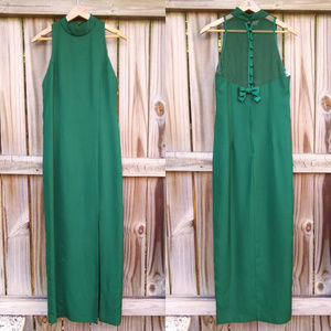 ☀️50% OFF SALE☀️ Vtg Oleg Cassini Emerald Gown